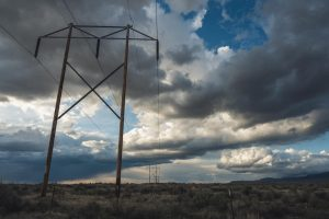 power lines in the american countryside